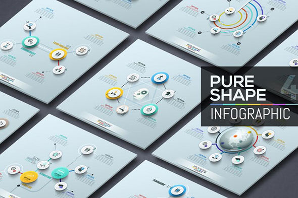 Pure Shape Infographics. Part 4