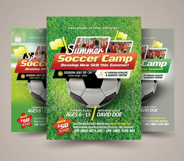 Soccer Camp Flyer Templates