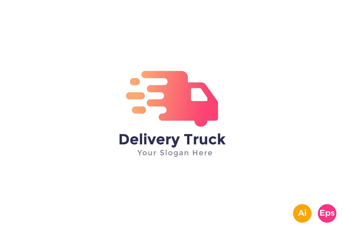 Fast Delivery Truck Logo Template