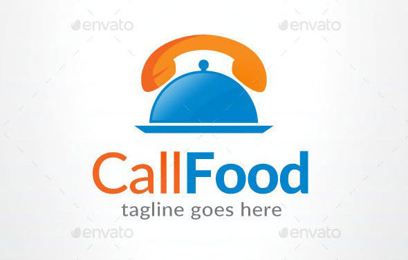 Call Food Logo - Food Delivery