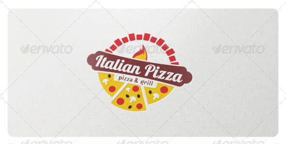 Italian Pizza Logo Template