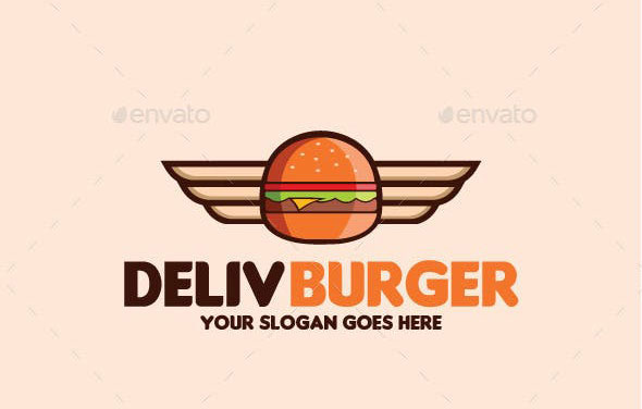 Delivery Burger Logo