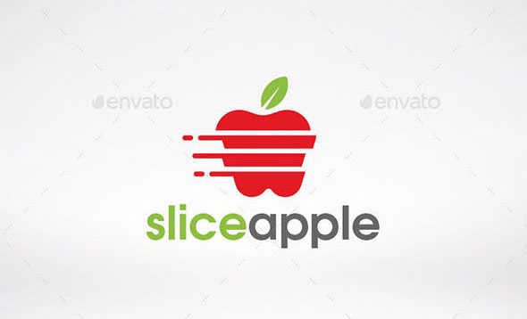 Slice Apple Logo Template
