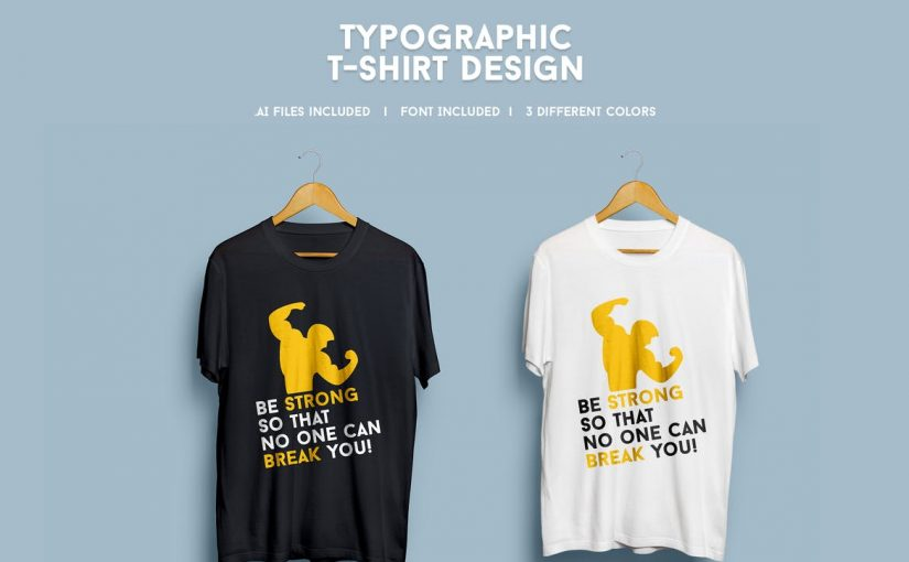 20 Badass Gym Trainer T-shirt Design Templates – PSD EPS & AI